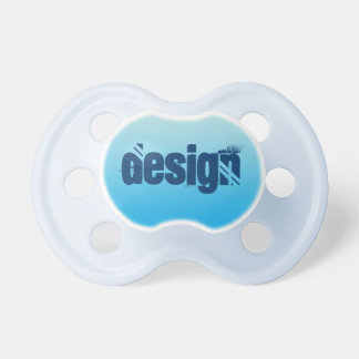 Pacificador del bebé: Azul Ombre de la aguamarina Chupetes Para Bebes