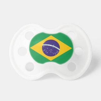 Pacificador del bebé -- Bandera brasileña Chupete De Bebé
