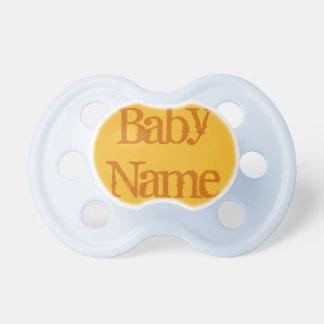Pacificador del bebé: Color oro Chupete De Bebe