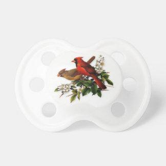 Pacificador del bebé con los pájaros cardinales chupetes para bebes