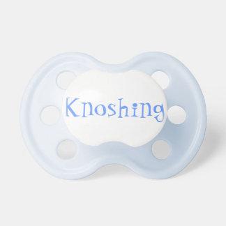 Pacificador del bebé de Knoshing Chupetes De Bebe