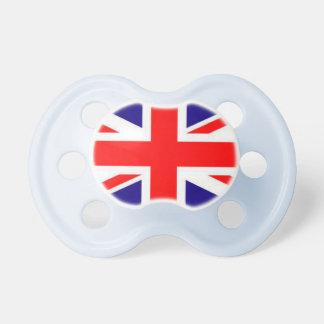Pacificador del bebé de la bandera de Gran Bretaña Chupete