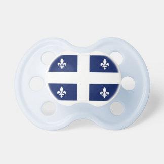 Pacificador del bebé de la bandera de Quebec Chupete De Bebé