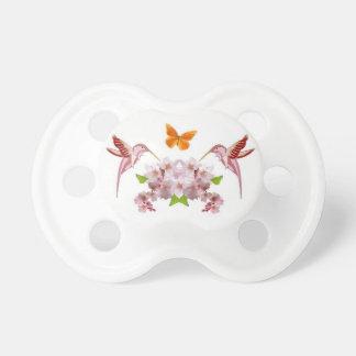 Pacificador del bebé de la flor de cerezo chupetes