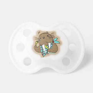 Pacificador del bebé de la morsa del dibujo chupetes