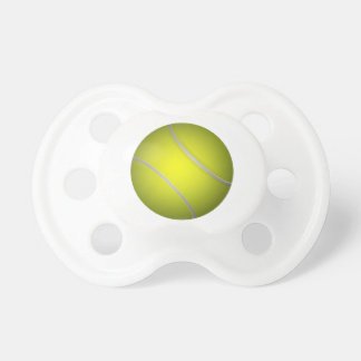 Pacificador del bebé de la pelota de tenis chupete