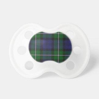 Pacificador del bebé de la tela escocesa de Forbes Chupetes