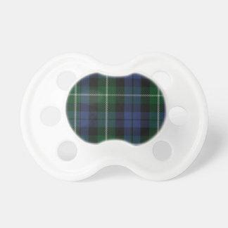 Pacificador del bebé de la tela escocesa de tartán chupetes