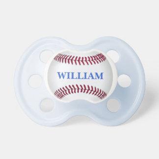 Pacificador del bebé del béisbol con el personaliz chupete de bebé