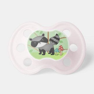 Pacificador del bebé del mapache del arbolado chupetes de bebé