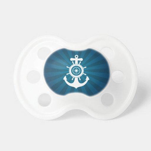 Pacificador del bebé del marinero del ancla chupetes de bebé