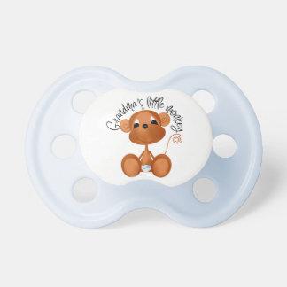 Pacificador del bebé del mono de la abuela del muc chupete de bebe