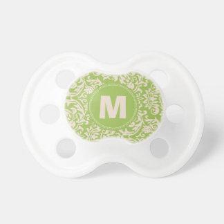 Pacificador del bebé del monograma del modelo del  chupete de bebe