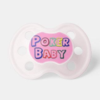 Pacificador del bebé del póker chupete
