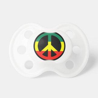 Pacificador del bebé del signo de la paz de Rasta Chupetes