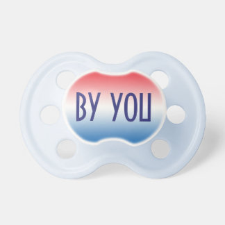 Pacificador del bebé: Ombre azul blanco rojo Chupete De Bebé