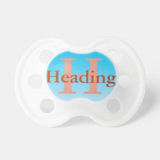 Pacificador del bebé: Ombre azul Chupetes Para Bebes