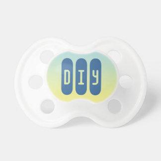 Pacificador del bebé: Ombre azul y amarillo Chupetes Para Bebés