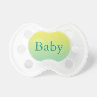 Pacificador del bebé: Ombre verde y amarillo Chupetes Para Bebés
