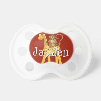 Pacificador del bebé - poca jirafa del animal de l chupetes de bebé