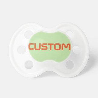 Pacificador del bebé: Verde claro Chupetes