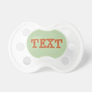 Pacificador del bebé: Verde salvia Chupete