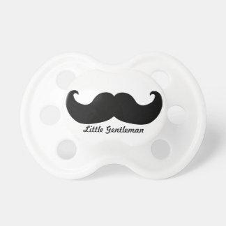 Pacificador del bigote del caballero chupete