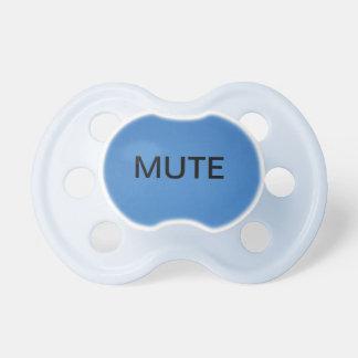 Pacificador del botón enmudecedor chupetes de bebe
