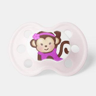 Pacificador del chica del mono chupetes de bebe