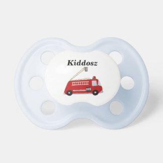 Pacificador del coche de bomberos chupete de bebé