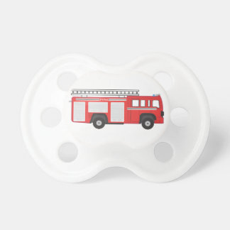 Pacificador del coche de bomberos el | chupetes para bebes