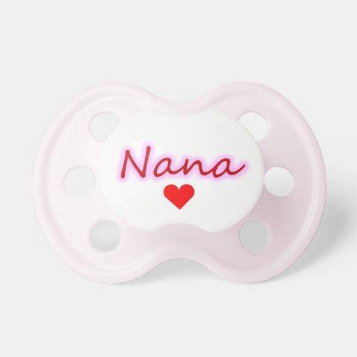 Pacificador del corazón del resplandor de Nana Chupetes Para Bebes
