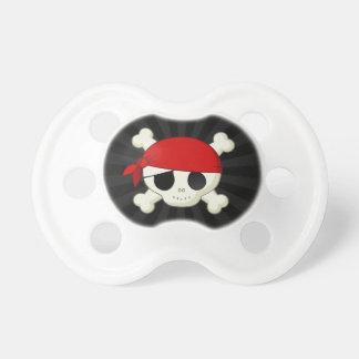 Pacificador del cráneo del pirata del bebé chupete de bebé