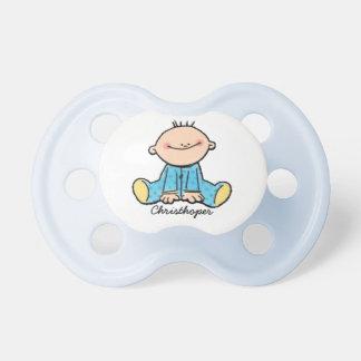 Pacificador del dibujo animado del bebé chupete de bebé
