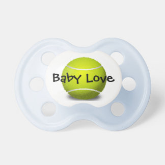 Pacificador del diseño de la pelota de tenis chupetes para bebés