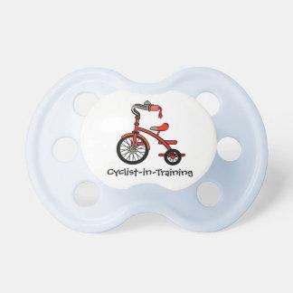 Pacificador del diseño del triciclo chupetes de bebe