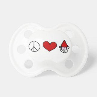 Pacificador del gnomo del amor de la paz chupete