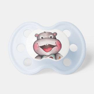 Pacificador del hipopótamo del bebé chupetes