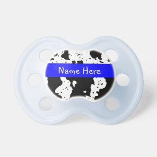 Pacificador del modelo de la vaca para los bebés chupete de bebé