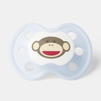 Pacificador del mono del calcetín chupetes de bebe