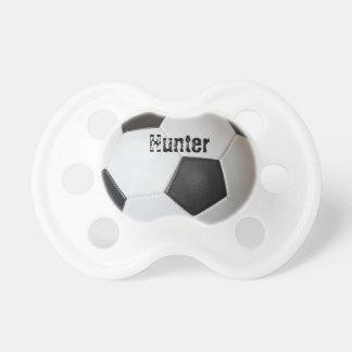 Pacificador del niño del balón de fútbol chupete