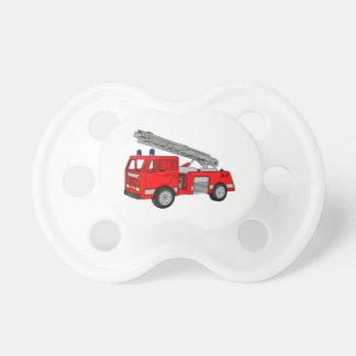 Pacificador del niño del coche de bomberos chupetes de bebe
