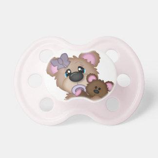 Pacificador del oso de la niña chupetes para bebes