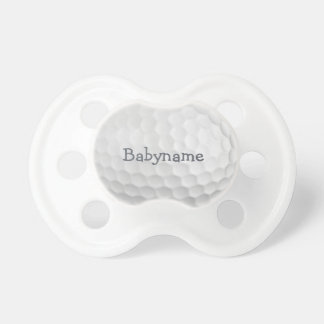 Pacificador del personalizado de la pelota de golf chupetes para bebes