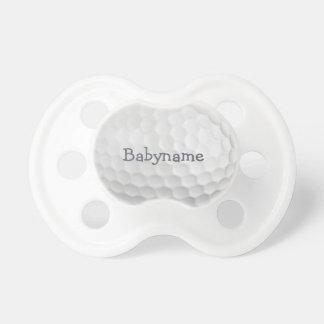 Pacificador del personalizado de la pelota de golf chupetes de bebé
