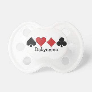 Pacificador del personalizado del jugador de chupete de bebé