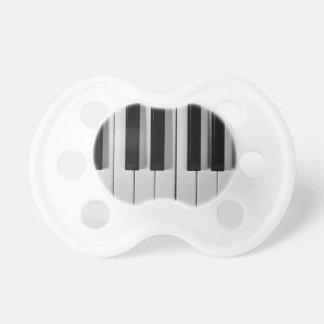 Pacificador del personalizado del teclado de piano chupetes para bebés