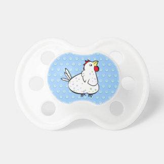 Pacificador del pollo del dibujo animado chupetes para bebés
