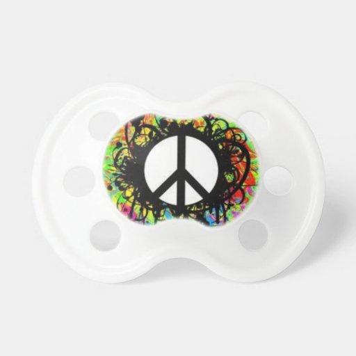 Pacificador del signo de la paz chupetes