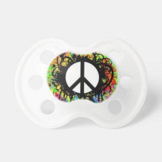 Pacificador del signo de la paz chupetes de bebe